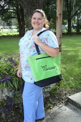 Bags For Nurses (Nurses are a Blessing From God GREEN Tote Bag - Makes a great gift for a)