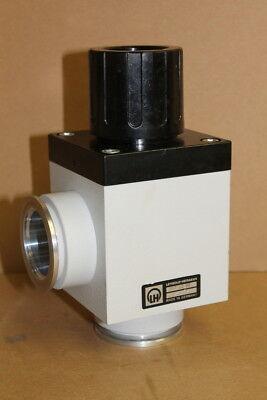 Vacuum valve, KF40, DN40, Quarter turn Manual Bellows, Aluminum, Leybold Heraeus