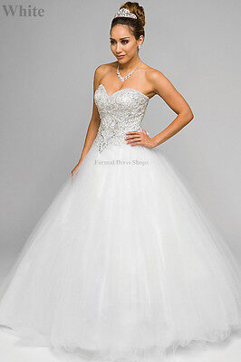 SWEET 16 PARTY DRESS MILITARY BALL GOWN PAGEANT MARDI GRAS CINDERELLA PROM DANCE (Mardi Gras Ball Gowns)