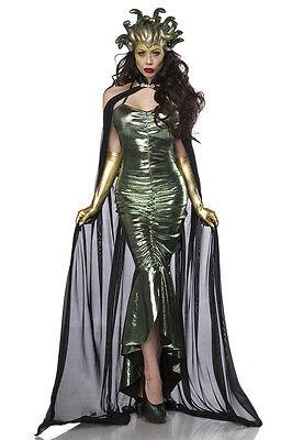 Medusa Kostüm Fasching Faschingskostüm Komplettset Outfit Halloween Set 80114