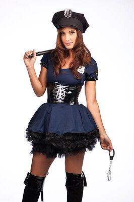 Cop And Robber Costume (OP 8881 Ladies Costume Fancy Dress Police Uniform Cops and Robbers Sz)