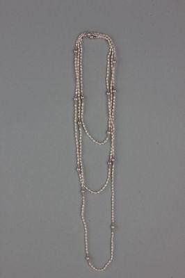 Lange Kette mit Zuchtperlen und Biwaperlen  175 cm