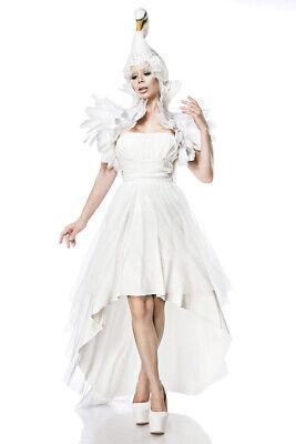Schwanenkostüm White Swan Komplett Kostüm Set Damen Schwan Fasching Halloween