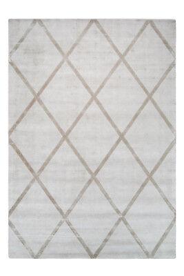 Teppich Modern 3D Struktur Rauten Design Muster Azeken Scandi Gelb Elfenbein