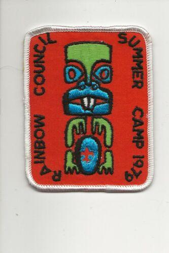 RAINBOW  COUNCIL / 1979 CAMP patch / - Boy Scout BSA A132/7-4