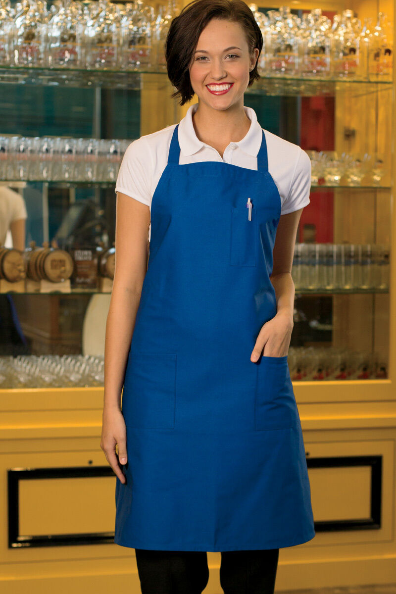Uncommon Threads 3 Pocket Bib Apron, Multiple Colors, One Si