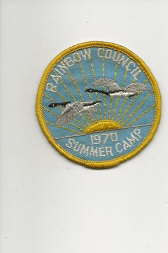 RAINBOW COUNCIL / 1970 SUMMER CAMP  patch - Boy Scout BSA /7-18