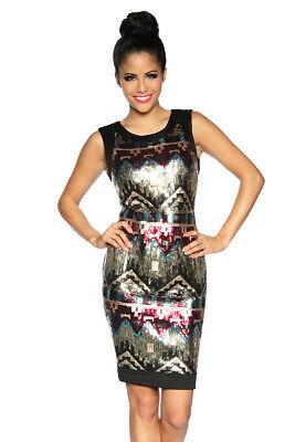 Kleid mit Pailletten Pailletten Mini Kleid Silvester Outfit - Outfits Mit Kleidern