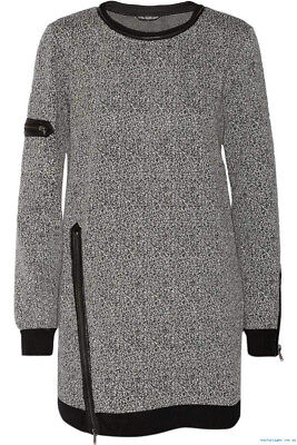 [W118 By Walter Baker] Miranda Dress Sweatshirt Black&White Sz M / New with Tag