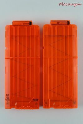 Lot of 2 Nerf N-Strike Elite 12 Round Dart Clip Ammo Magazine Cartridges C044A/B