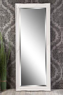 Schlafzimmer Spiegel (Spiegel Wandspiegel ELISABETH  Barock weiß 150 x 60 cm )