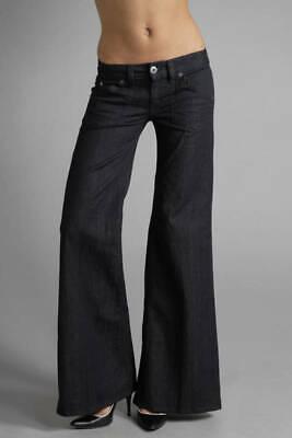 HUDSON $176 Womens Jeans Deluxe Wide Leg Stretch Denim Flap Pocket Dark Wash 27 Flap Pocket Wide Leg Jeans