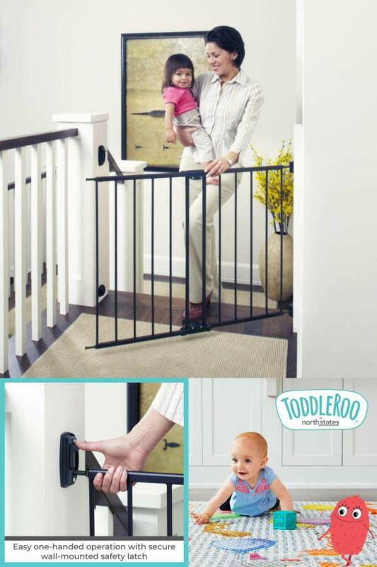 Baby Gate For Top Of Stairs Tall 48 Inch Wide Safety Fence C