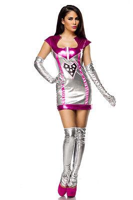 ATX 14471 Karneval Fasching Sexy Damen Kostüm Weltraum Weltall Space Jäger S-M (Silber Weltraum Kostüm)