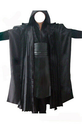 Star Wars Sith Dark Lord Darth Maul Tunic Robe Cloak Cosplay Costume Outfit Suit - Sith Outfit