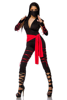 ATX 14297 Sexy Damen Kostüm Fasching Ninja Kriegerin Warrior Schatten Kämpfer