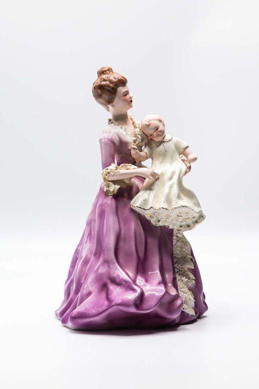 Rare Beautiful Lavender Florence Ceramics Piece. The Christening.