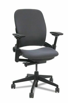 Steelcase Leap V2 Chair -open Box- Fully Loaded Black Fabric