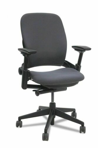Steelcase Leap V2 Chair,  -Open Box- Fully Loaded Black Fabric