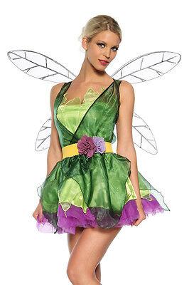 ATX 13164 Damen Kostüm Feen Zauber Fee Elfe Grün Lila mit Flügel 34 36 38