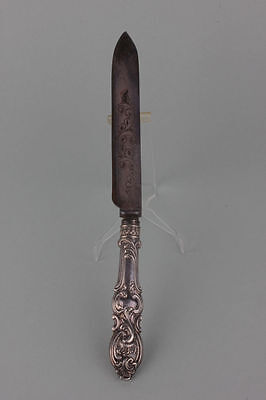 Silber Messer mit gravierter Klinge 18.Jahrhundert