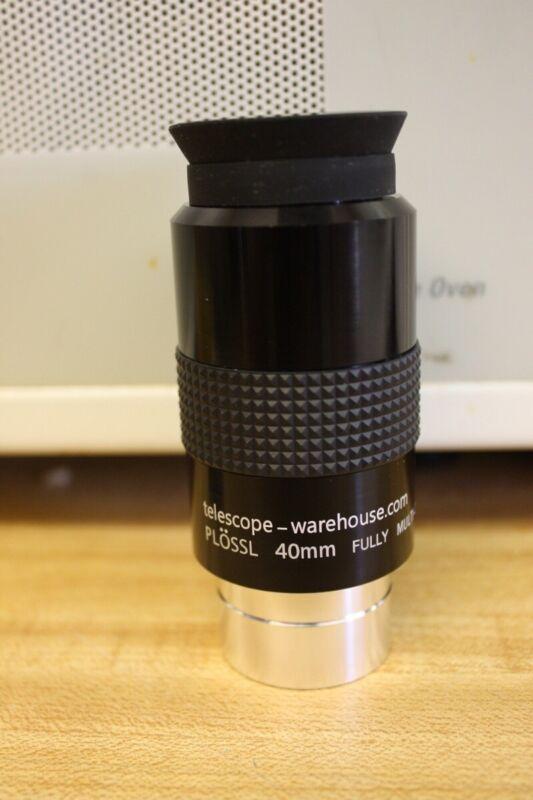 "Telescope Warehouse 1.25"" 40mm Super Plossl Eyepiece - High Quality Optics"