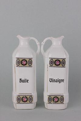 Porzellan-Behälter für Essig und Öl, Frankreich, um 1920