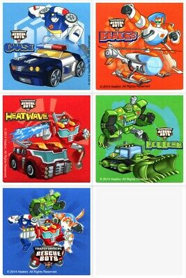 Rescue Bots Birthday Party Supplies (Transformers Rescue Bots Stickers x 5 - Birthday Party Supplies - Favours)