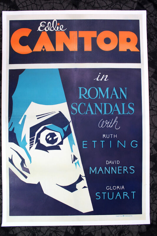 Roman Scandals - Eddie Cantor (1933) US One Sheet Movie Poster LB