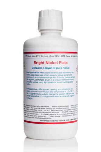 Bright Nickel Plating Solution- 1 Liter - Electro Plating Supplies