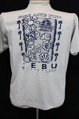 Nwt Lokal Sun And Fun Ceba Phillipines Graphic Design Beach T Shirt Xl