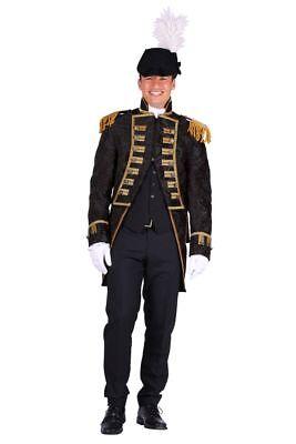 THE - Herren Kostüm Jacke Garde Uniform Admiral schwarz - Admiral Jacke Kostüm