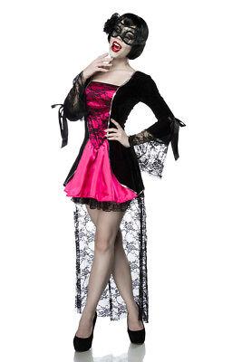 Gothic Vampire Kostüm Komplettset Kleid Maske Damen ()