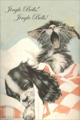 Cavalier King Charles Spaniel Dog & Kitten  New LARGE Blank Christmas Note Cards