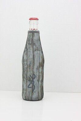 Browning Barnwood Flaschen- Koozie Coozie, Rustikal Kühler Buckmark Logo ()