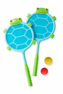 Melissa & Doug 16689 Schildkrötenschläger und Ball Set Strand Tennis Schläger ()