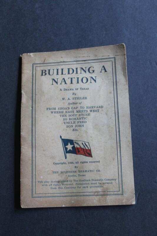 Antique Building a Nation A Drama of Texas Centennial 1936