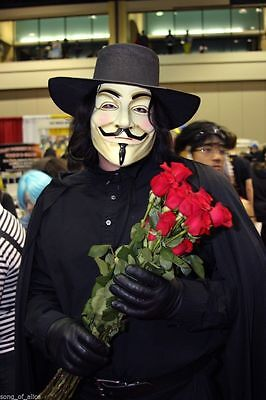 Halloween Masks V for Vendetta Mask Guy Fawkes Anonymous fancy dress costume - Guys Hot Halloween Costumes
