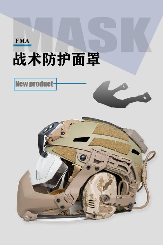 Tactical Half Seal Mask Mandible Guard Protector For FAST MICH Helmet Rails