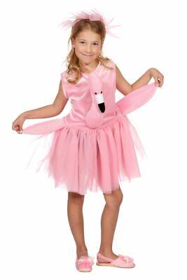 WIL - Kinder Kostüm Flamingo Kleid Haarreif Karneval Fasching