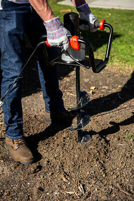 Electric Post Hole Digger 1500w With 6 Inch Digging Soil Auger Drill Set Black