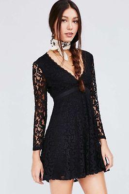 Kimchi Blue Urban Outfitters Womens Vixen Babydoll Lace Dress 0 2 4 6 8