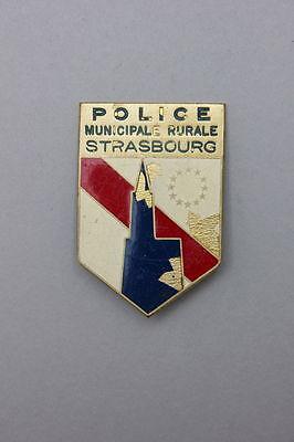 Frankreich - Insignie + Steckabzeichen Police Municipale Rurale Strasbourg