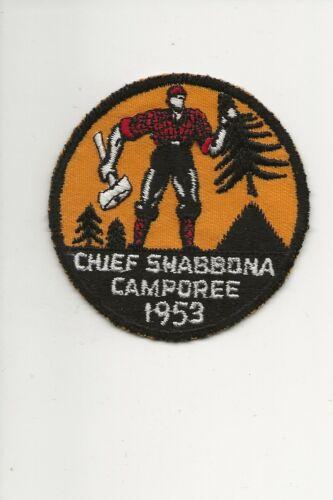 RAINBOW COUNCIL / SHABBONA DISTRICT / 1953 Camporee - Boy Scout BSA /7-18