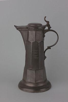 Kanne mit Widmung datiert 1899 Kayserzinn Nr. 4006 - Jugendstil