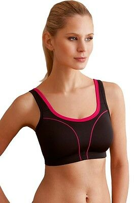 SUSA Sport-BH ohne Bügel *High Level* 7897, 75-105 B-E Pink / Schwarz / Weiss