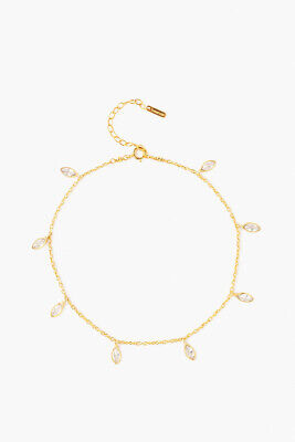Chan Luu Crystal and Gold-plated ankle Bracelet, Womens