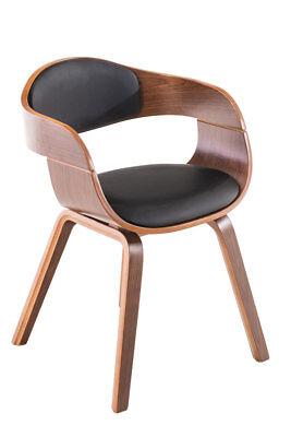 Walnuss-kunst (Stuhl Aleo in Walnuss Kunstleder/Stoff, versch. Farben ## Besucherstuhl )