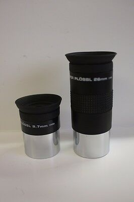 """Meade DS 9.7MM & 26MM Series 4000 1.25"""" Super Plossl Telescope Eyepiece Kit NEW!"""