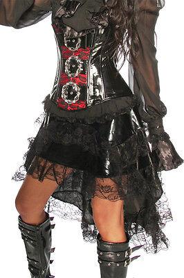 ATX 13242 Sexy Damen Pirat Piratin Volant - Rock mit Spitze zum Kostüm - Pirate Kostüm Mit Schwarzem Rock